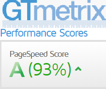GTMetrix Performance Score=A